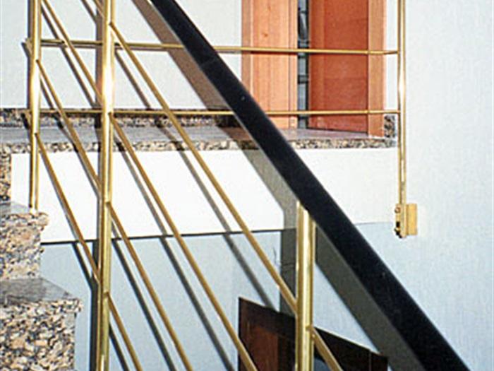 Unutarnje inox i mesing ograde Mesingal